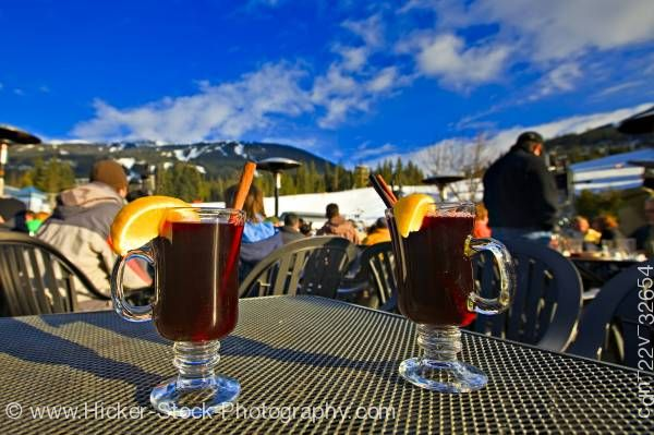 Stock photo of Hot Gluehwein Longhorn Saloon and Grill Whistler Mountain Whistler British Columbia Canada