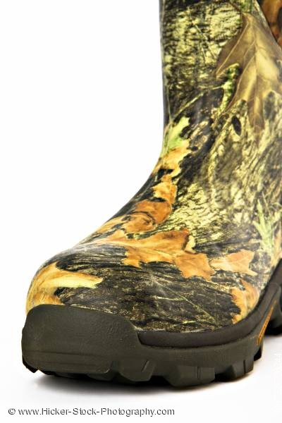 Stock photo of Camouflage hunting boot