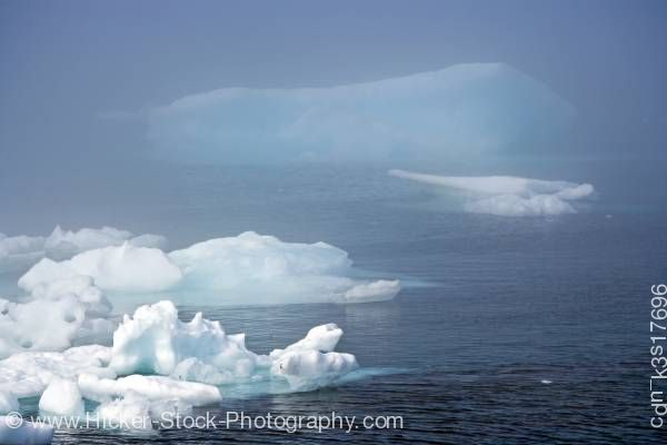 Stock photo of Iceberg Strait of Belle Isle Viking Trail Northern Peninsula Newfoundland Canada