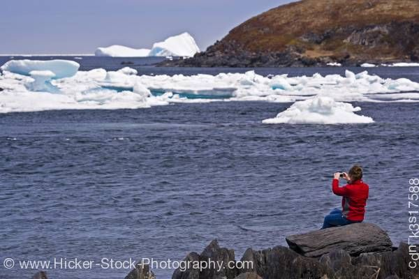 Stock photo of Tourist iceberg watching Quirpon Northern Peninsula Newfoundland Canada