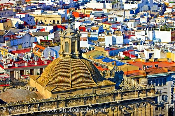 Stock photo of Dome Iglesia del Sagrario the Seville Cathedral city of Sevilla Province of Sevilla Andalusia Spain