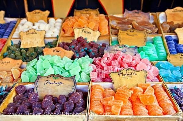 Stock photo of Jelly sweets City of Cordoba UNESCO World Heritage Site Province of Cordoba Andalusia Spain Europe