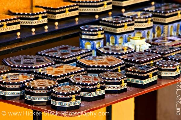 Stock photo of Gift store at The Alhambra Province of Granada Andalusia Spain Europe