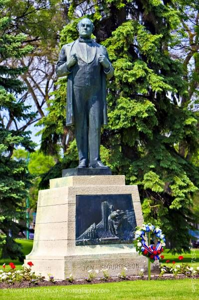 Stock photo of Statue of Jon Sigurdsson Iceland's Patriot Legislative Building Winnipeg Manitoba