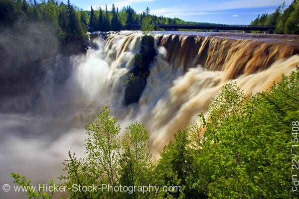 Stock photo of Kakabeka Falls in Kakabeka Falls Provincial Park near Thunder Bay Ontario Canada