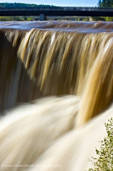 Stock photo of Close Up Kakabeka Falls Kaministiquia River Spring Flood Kakabeka Falls Provincial Park Thunder Bay
