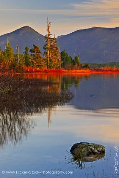 Stock photo of Late afternoon Kennedy Lake Clayoquot Sound Vancouver Island British Columbia Canada