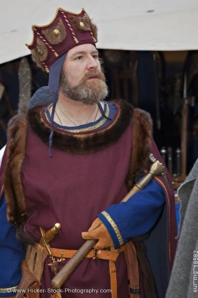Stock photo of King dressed medieval clothing