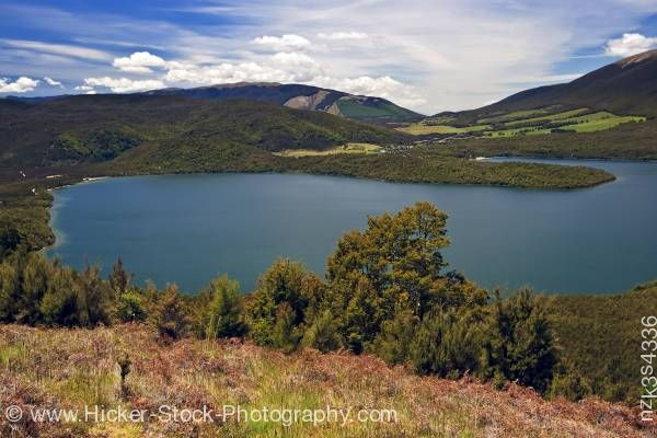 Stock photo of View of ranges surrounding Lake Rotoiti seen from Mt Roberts Road Nelson Lakes National Park