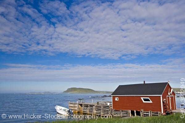 Stock photo of Fishing stage town of L'Anse aux Meadows Newfoundland Labrador Canada