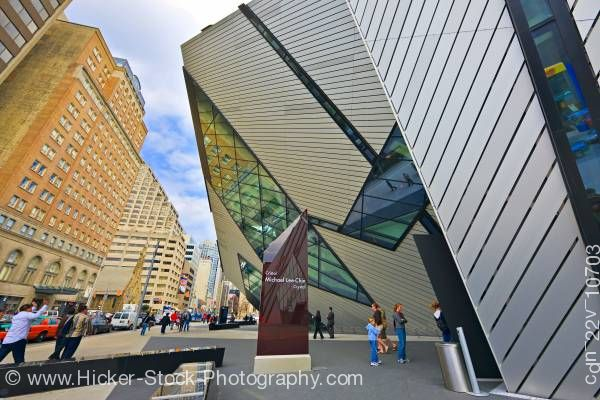Stock photo of Lee-Chin Crystal Royal Ontario Museum Toronto Ontario Canada