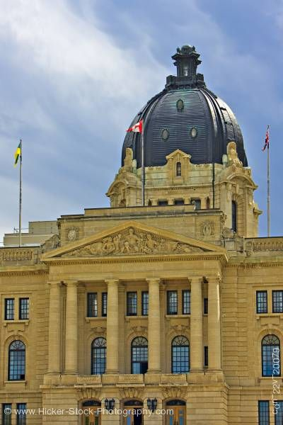 Stock photo of Legislative Building in the City of Regina Saskatchewan Canada