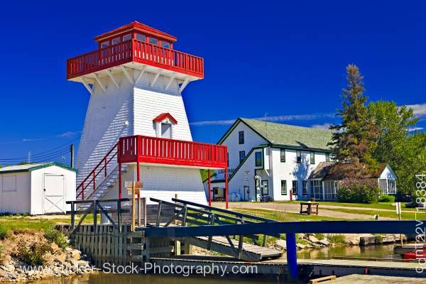 Stock photo of Lighthouse marina Gull Harbour Lake Winnipeg Hecla Provincial Park Hecla Island Manitoba Canada