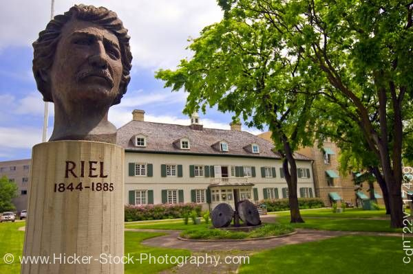 Stock photo of Louis A Riel Monument at Saint Boniface Museum Winnipeg Manitoba Canada