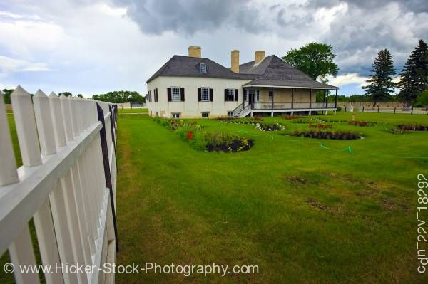 Stock photo of Big House Lower Fort Garry a National Historic Site Selkirk Manitoba Canada
