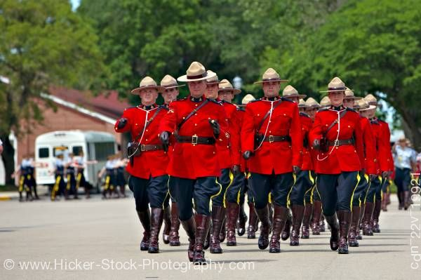 Stock photo of Sergeant Major's Parade graduation ceremony RCMP Academy City of Regina Saskatchewan Canada