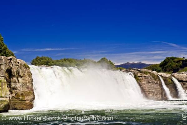 Stock photo of Maruia Falls Scenic Reserve Murchison New Zealand