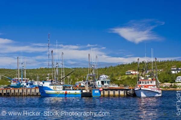 Stock photo of Mary's Harbour fishing boats Labrador Coastal Drive Battle Harbour Ferry St Lewis Inlet Viking Trail