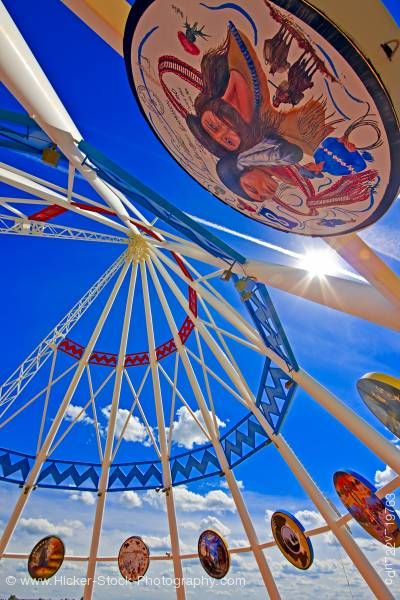 Stock photo of Saamis Tee pee the worlds largest tee pee in the city of Medicine Hat Alberta Canada