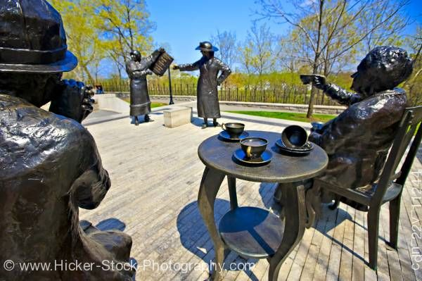 Stock photo of Statues Famous Five women Parliament Hill Ottawa Ontario Canada