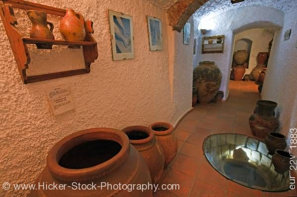Stock photo of Museo de Alfareria Cueva La Alcazaba Museum of Ceramics Guadix Province of Granada Andalusia