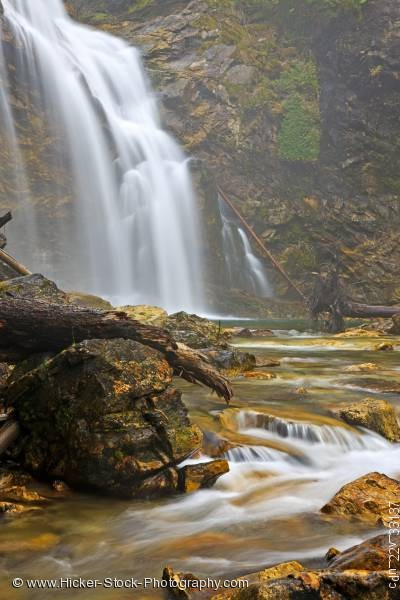 Stock photo of Scenic nature waterfall Monashee Provincial Park Okanagan British Columbia Canada