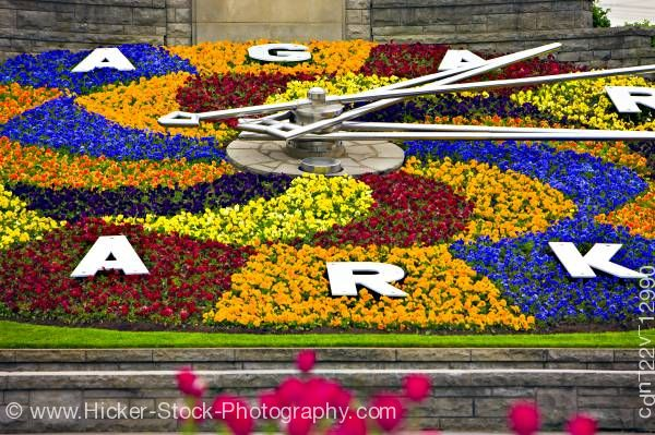 Stock photo of Niagara Parks Floral Clock along Niagara River Parkway Queenston Ontario Canada