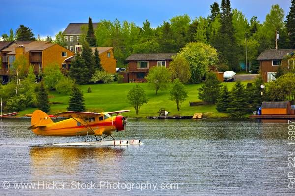 Stock photo of Norseman Bush Aircraft on Water Red Lake Ontario Canada