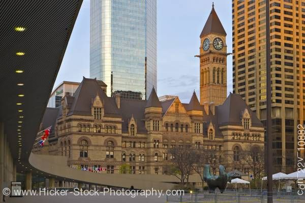 Stock photo of Old City Hall Nathan Phillips Square Downtown Toronto Ontario Canada