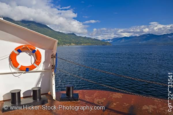 Stock photo of Osprey vehicle passenger ferry Kootenay Lake Balfour Kootenay Bay