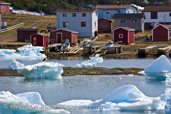 Stock photo of Packed Ice Conche Harbour Northern Peninsula Newfoundland