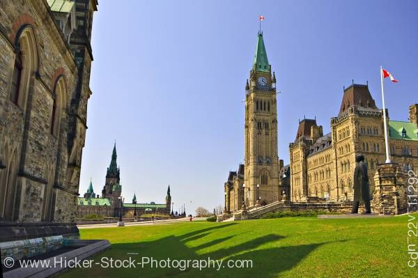 Stock photo of Centre Block Parliament Buildings with Peace Tower