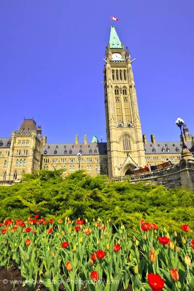 Stock photo of Peace Tower Centre Block Parliament Hill Ottawa Ontario