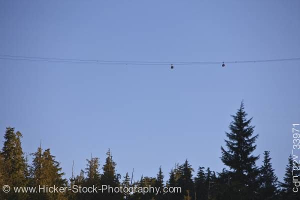 Stock photo of Peak 2 Peak Gondola Whistler Blackcomb Mountains Whistler British Columbia Canada