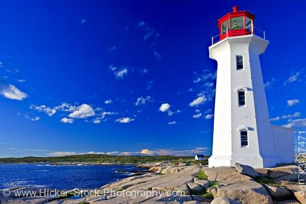 Stock photo of Peggy's Cove Lighthouse Peggy's Cove Nova Scotia Canada