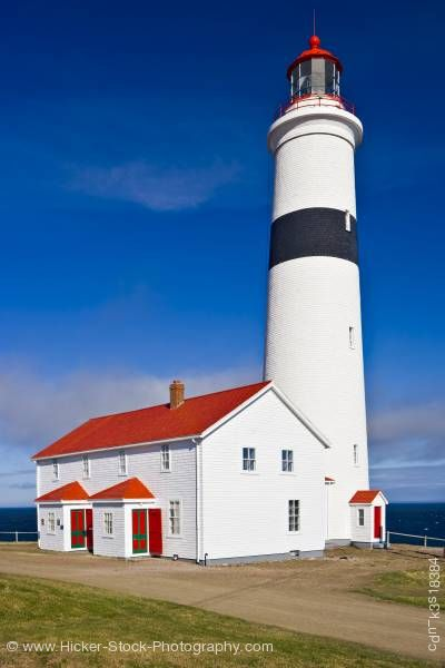 Stock photo of Point Amour Lighthouse Point in L'Anse-Amour Labrador Strait of Belle Isle
