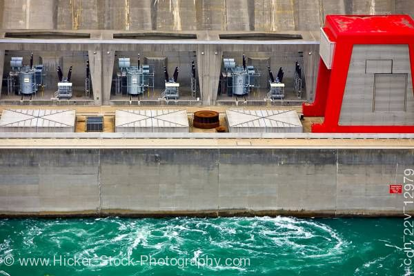 Stock photo of Robert Moses Niagara Power Plant in Niagara River Niagara Falls state of New York United States