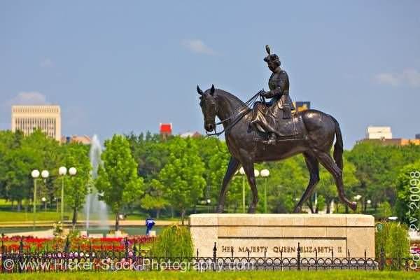 Stock photo of Queen Elizabeth II Gardens City of Regina Saskatchewan Canada