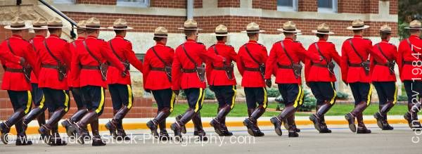 Stock photo of Panoramic Sargeant Major's Parade and Graduation ceremony RCMP Academy Regina Saskatchewan