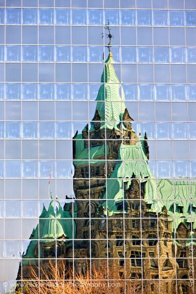 Stock photo of Reflections Confederation Building Ottawa