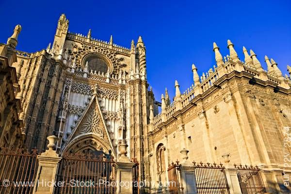 Stock photo of Door San Cristobal Seville Cathedral Santa Cruz District Sevilla Spain