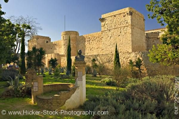 Stock photo of Castle walls town of Sanlucar de Barrameda Province of Cadiz Andalusia (Andalucia) Spain