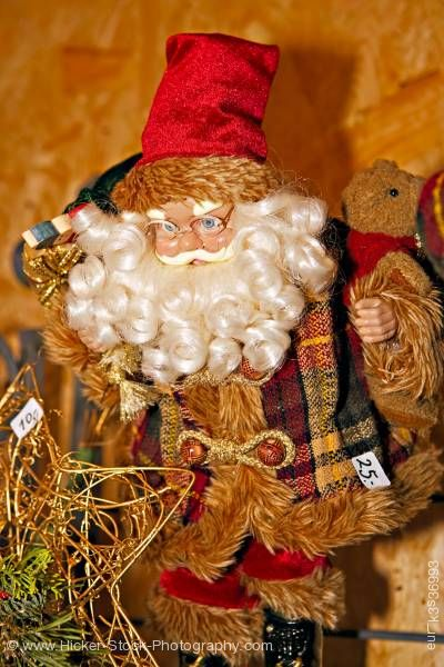 Stock photo of Santa Claus ornament Christmas Market Hexenagger Castle Hexenagger Bavaria Germany