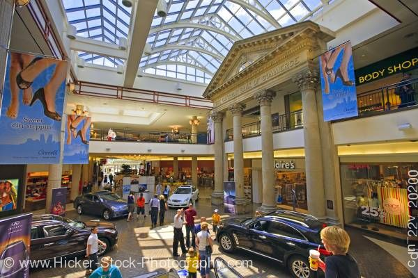 Stock photo of Shopping mall Cornwall Centre City of Regina Saskatchewan Canada