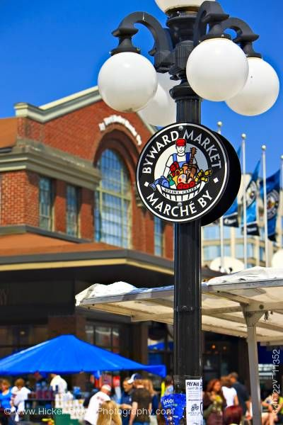 Stock photo of Byward Market sign Ottawa Ontario Canada