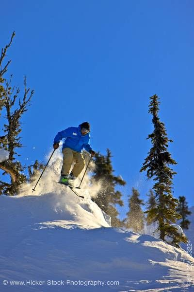 Stock photo of Downhill Skier Whistler Blackcomb Whistler British Columbia Canada