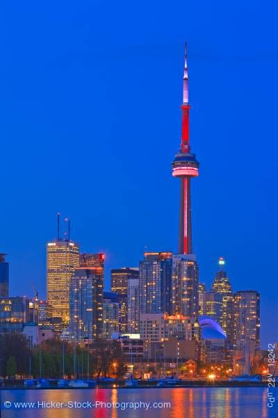 Stock photo of Toronto skyline high rises CN Tower