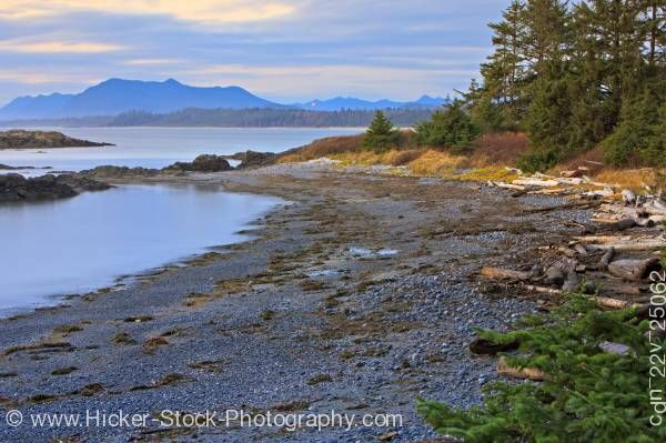 Stock photo of South Beach Shoreline Pacific Rim National Park Southwest Vancouver Island British Columbia Canada