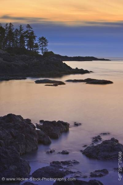 Stock photo of South Beach Sunset Pacific Rim National Park West Coast Vancouver Island British Columbia Canada