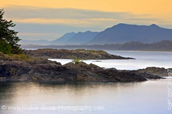 Stock photo of South Beach After Sunset Pacific Rim National Park Vancouver Island British Columbia Canada